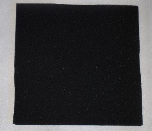 Filtermatte svart