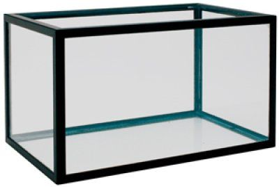 Aluminiums akvarie 105L - Svart