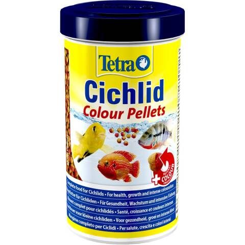 Tetra Cichlid Colour Pellets 500ml