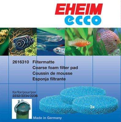 Blå Filtermatte til Ecco - 3stk
