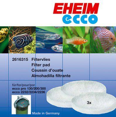 Hvit filtermateriale til Ecco - 3stk