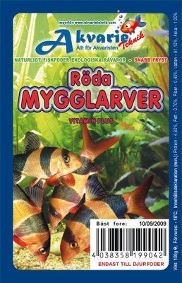 Røde Mygglarver 100g