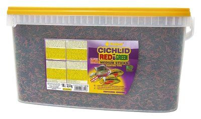 Tropical Cichlid Red & Green Sticks 10L - M