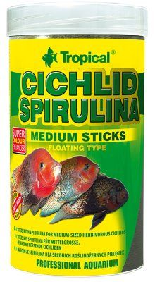Tropical Cichlid Spirulina Sticks 250ml - M
