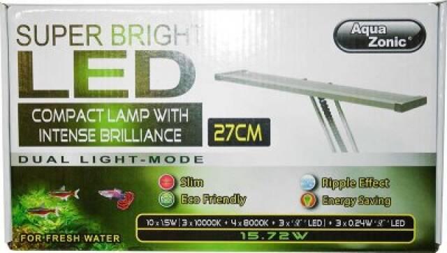 LED lampe 27cm med teleskoparm - 15,5w