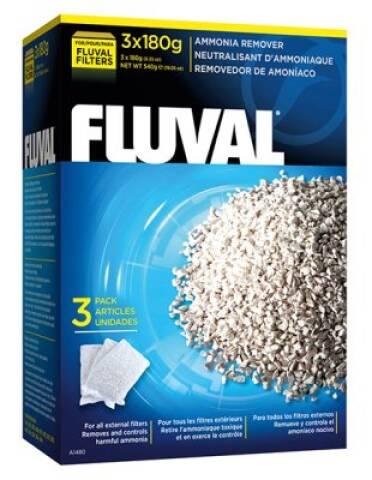 Fluval ammonia remover 3x180g