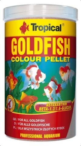 Tropical Goldfish Colour Pellets 1L