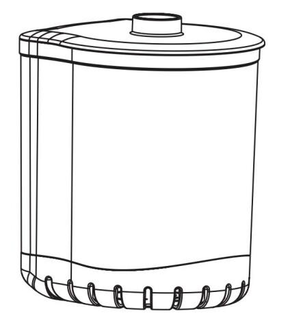 Filterbeholder Turbo filter 1000/1500/2000